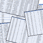 files of original data, thousands of rows